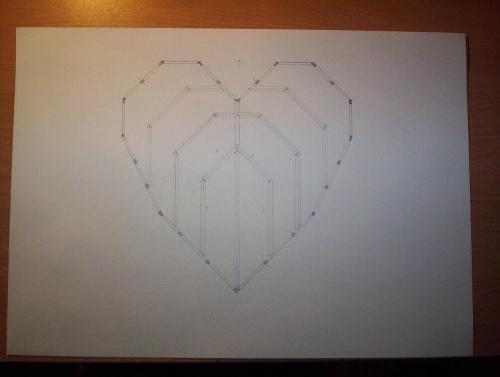Podstawa pudełka #zapałki #serce
