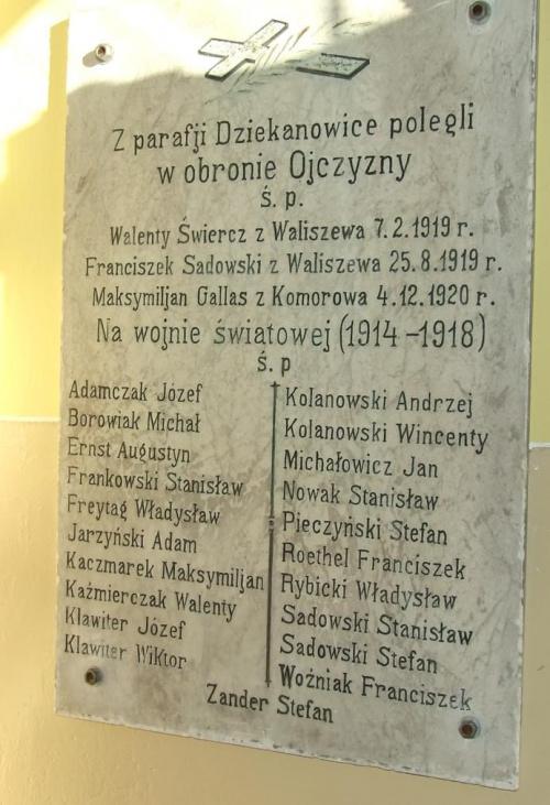 Powstańcy wielkopolscy cmentarz parafia Dziekanowice #powstańcy