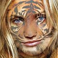 #Cameroon #Diaz #tiger #tygrys #overlay #art #kobieta