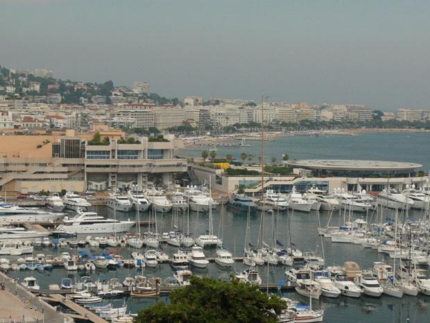 Cannes - widok na port #LazuroweWybrzeże