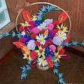kwiaty z bibu�y i krepiny