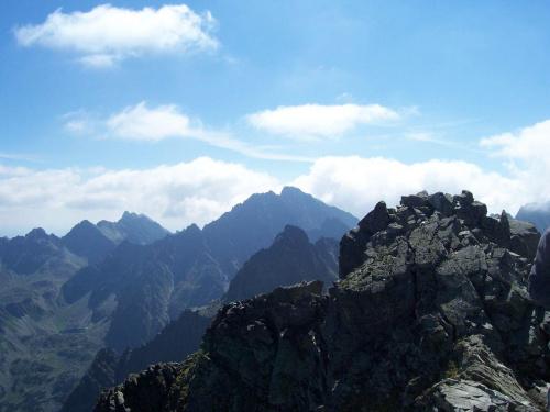 Widok z najwyższej góry w Polsce :)
