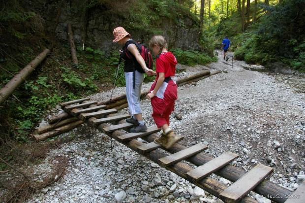 Wąwóz Sucha Bela w Słowackim Raju. Sierpień 2007r. #SuchaBela #SłowackiRaj