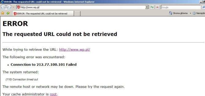 Internet jest ale nie wyświetla stron...