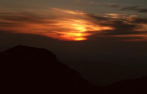Zachód nad Wielkim Salatynem - widok ze Spalonej #góry #masyw #mountain #Salatyn #Tatry #Zachodnie #zachód